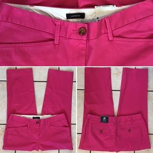 NWT Lands' End Mid Rise Straight Chino Crop Pants